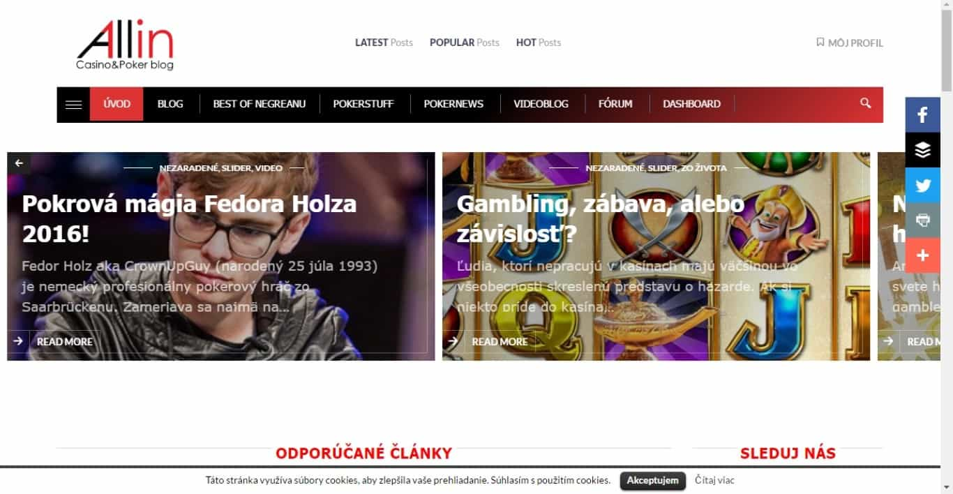 All In 1 Poker and Casino blog